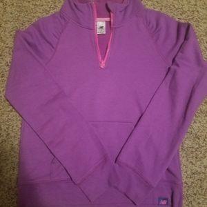 New Balance Pink and Purple Large Sweatshi…